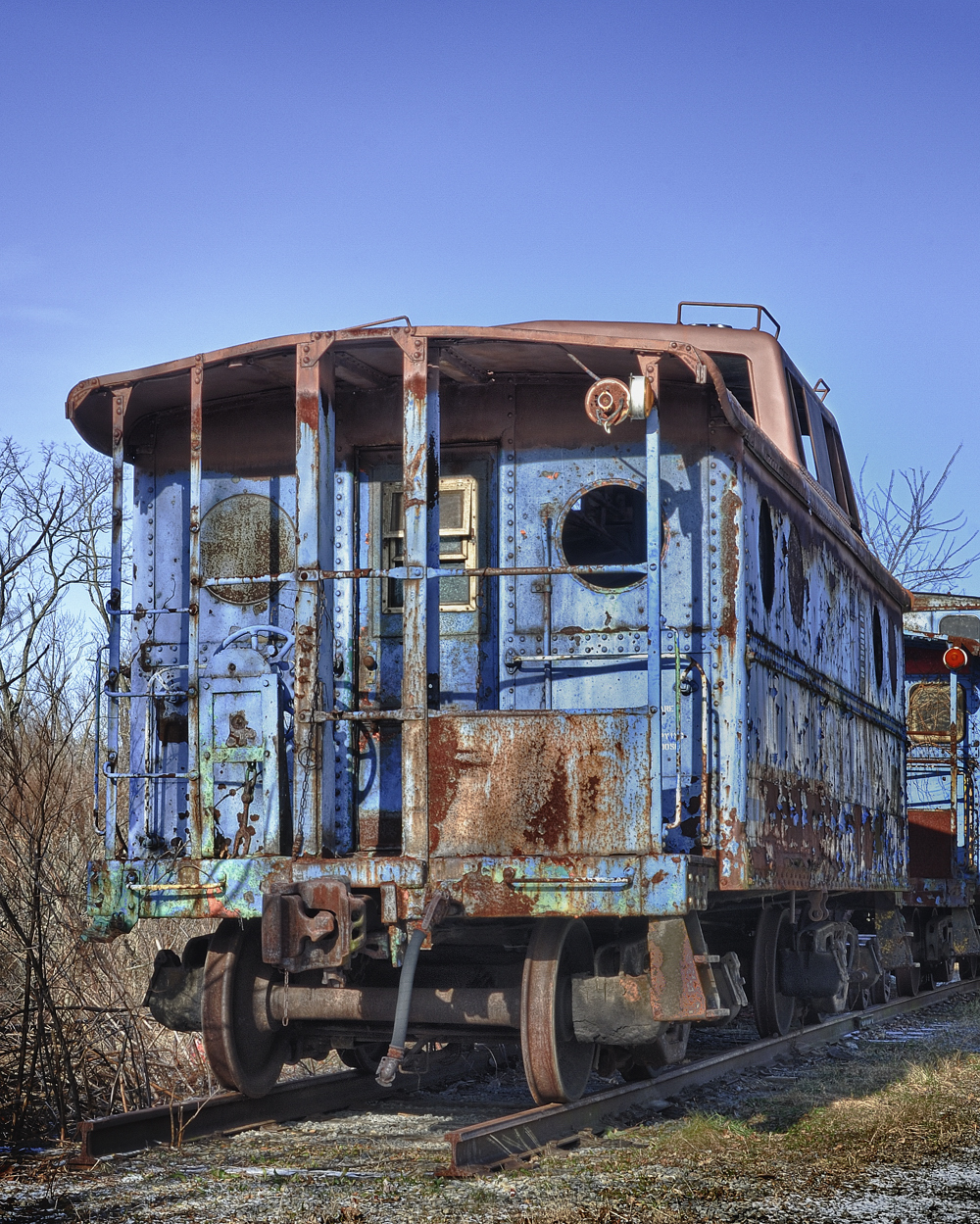 END of the LINE - BLUE CABOSE